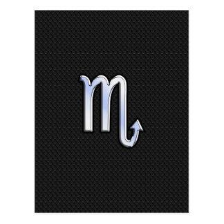 Cartão Postal O cromo do zodíaco da Escorpião gosta da pele de