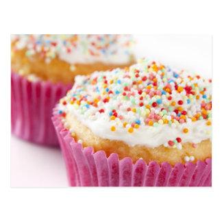 Cartão Postal O cupcake com polvilha