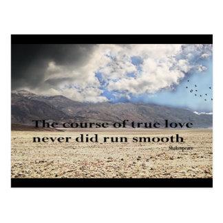 Cartão Postal O curso do amor verdadeiro