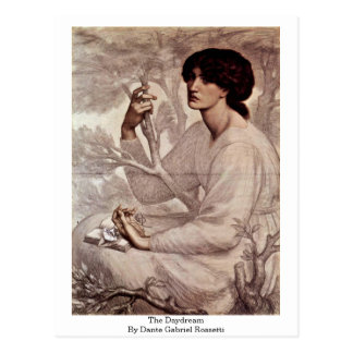 Cartão Postal O Daydream por Dante Gabriel Rossetti