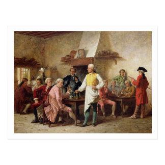 Cartão Postal O debate de um cavalheiro, 1881 (óleo no painel)