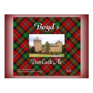Cartão Postal O decano Castelo Cerveja inglesa de Boyd