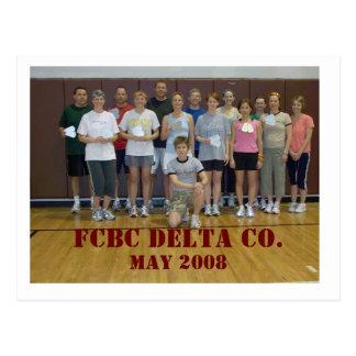 Cartão Postal O DELTA CO. de FCBC, pode 2008