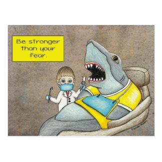 Cartão Postal O dentista do tubarão, seja mais forte do que seu