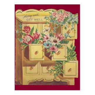 Cartão Postal O departamento do vintage de obtem desejos bons