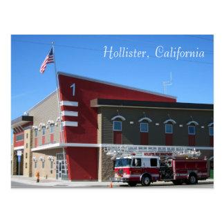 Cartão Postal O departamento dos bombeiros de Hollister