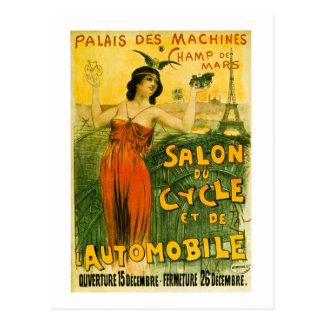 Cartão Postal O DES de Palais faz à máquina o Champ de Mars