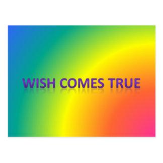 Cartão Postal o desejo vem verdadeiro