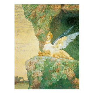 Cartão Postal O desespero da esfinge, 1890