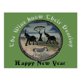 Cartão Postal O destino do sábio por o ano novo