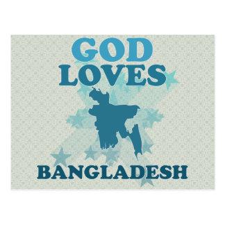 Cartão Postal O deus ama Bangladesh