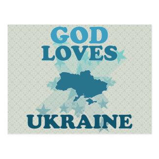Cartão Postal O deus ama Ucrânia