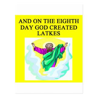 Cartão Postal o deus criou latkes