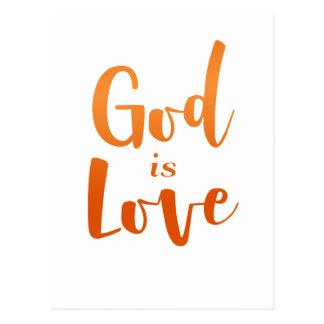 Cartão Postal O deus é amor - espiritual e religioso