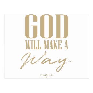 Cartão Postal O deus fará uma maneira