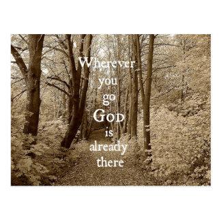 Cartão Postal O deus inspirado é já lá citações cristãs
