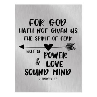 Cartão Postal O deus não deu o espírito do verso da bíblia do