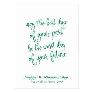 Cartão Postal O dia bonito de St Patrick de bênção irlandês