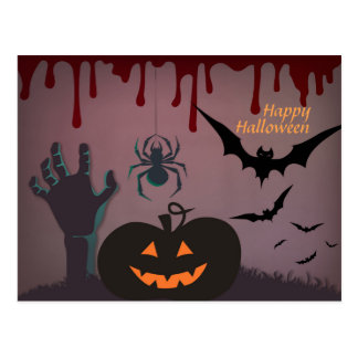 Cartão Postal O Dia das Bruxas assustador