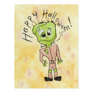 Cartão Postal O Dia das Bruxas de Frankenstein