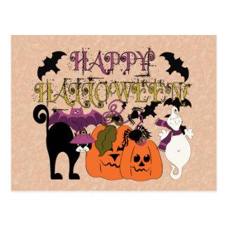 Cartão Postal O Dia das Bruxas está aqui
