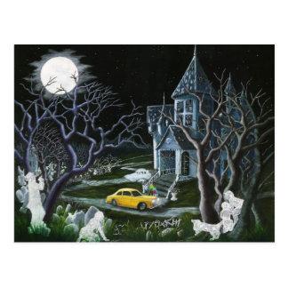 Cartão Postal O Dia das Bruxas, fantasmas, assombrou, abriga,