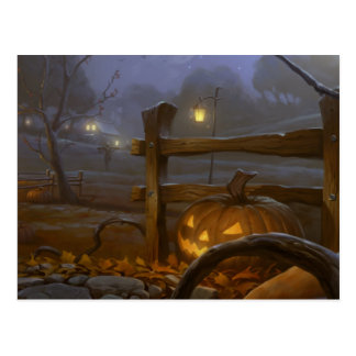 Cartão Postal O Dia das Bruxas feliz - abóbora
