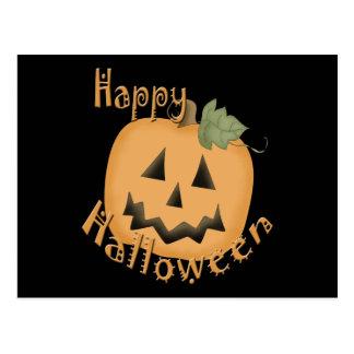 Cartão Postal O Dia das Bruxas feliz Jack de sorriso O'Lantern