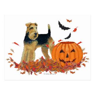 Cartão Postal O Dia das Bruxas Terrier