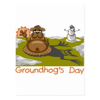 Cartão Postal O dia de Groundhog