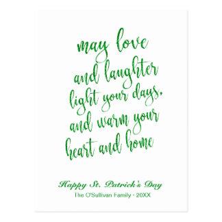 Cartão Postal O dia de St Patrick de bênção irlandês do brilho
