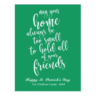 Cartão Postal O dia de St Patrick de bênção irlandês do roteiro