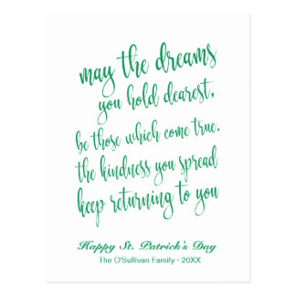Cartão Postal O dia de St Patrick de bênção irlandês velho