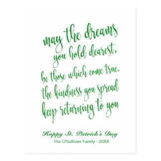 Cartão Postal O dia de St Patrick de bênção irlandês velho do