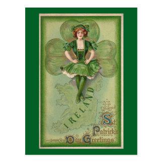 Cartão Postal O dia de St Patrick do vintage