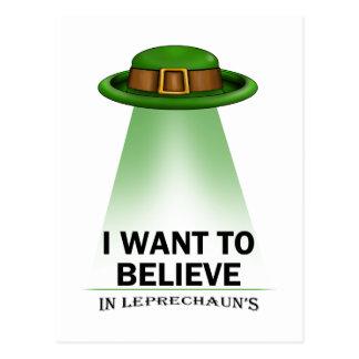 Cartão Postal o dia de St Patrick, eu quero acreditar