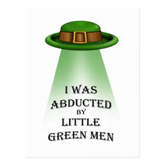 Cartão Postal o dia de St Patrick, sequestrado por homens verdes