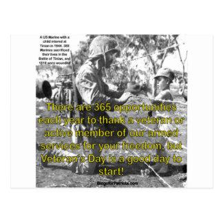 Cartão Postal O dia de veterano