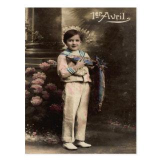 Cartão Postal O dia do enganado do d'avril de Poisson dos peixes
