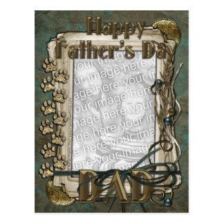 Cartão Postal O dia dos pais - patas de pedra - ADICIONA SUA