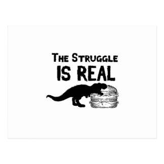 Cartão Postal o dinossauro T Rex o Struggl é Hamburger real