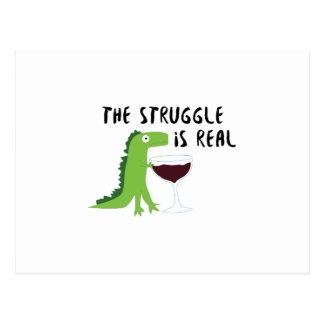 Cartão Postal o dinossauro T Rex o Struggl é vinho real