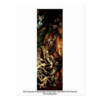 Cartão Postal O direita do Triptych do dia do julgamento final