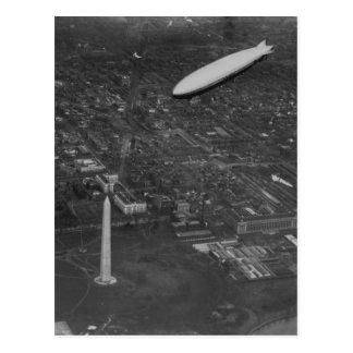 """Cartão Postal O dirigível """"USS Los Angeles"""" ZR3 dos E.U. que voa"""