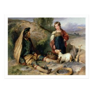 Cartão Postal O disjuntor de pedra e sua filha, 1830