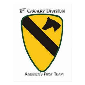 Cartão Postal ø Divisão da cavalaria