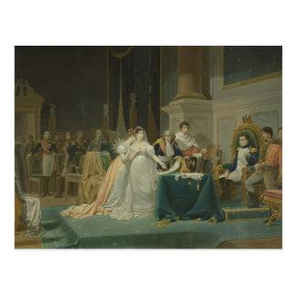 Cartão Postal O divórcio da imperatriz Josephine (1763-1814) 1