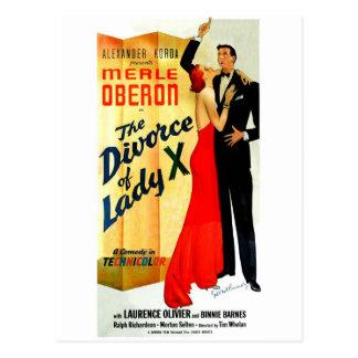 Cartão Postal O divórcio da senhora X