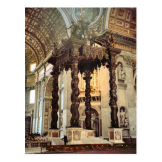 Cartão Postal O dossel de Bernini sobre o altar alto