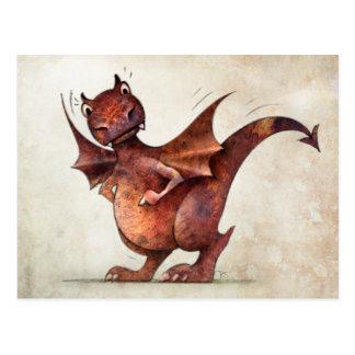 Cartão Postal O dragão pequeno engraçado do miúdo